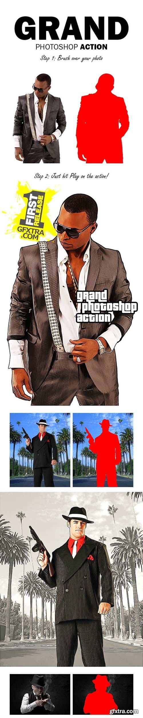 GraphicRiver - Grand Photoshop Action 11341606