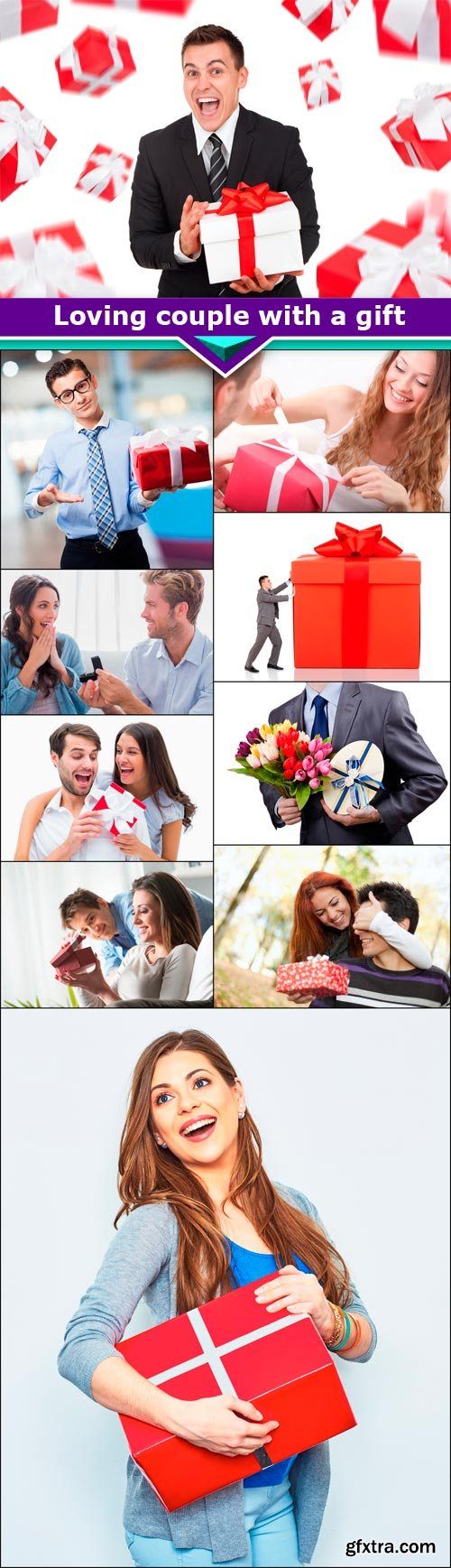 Loving couple with a gift 10x JPEG