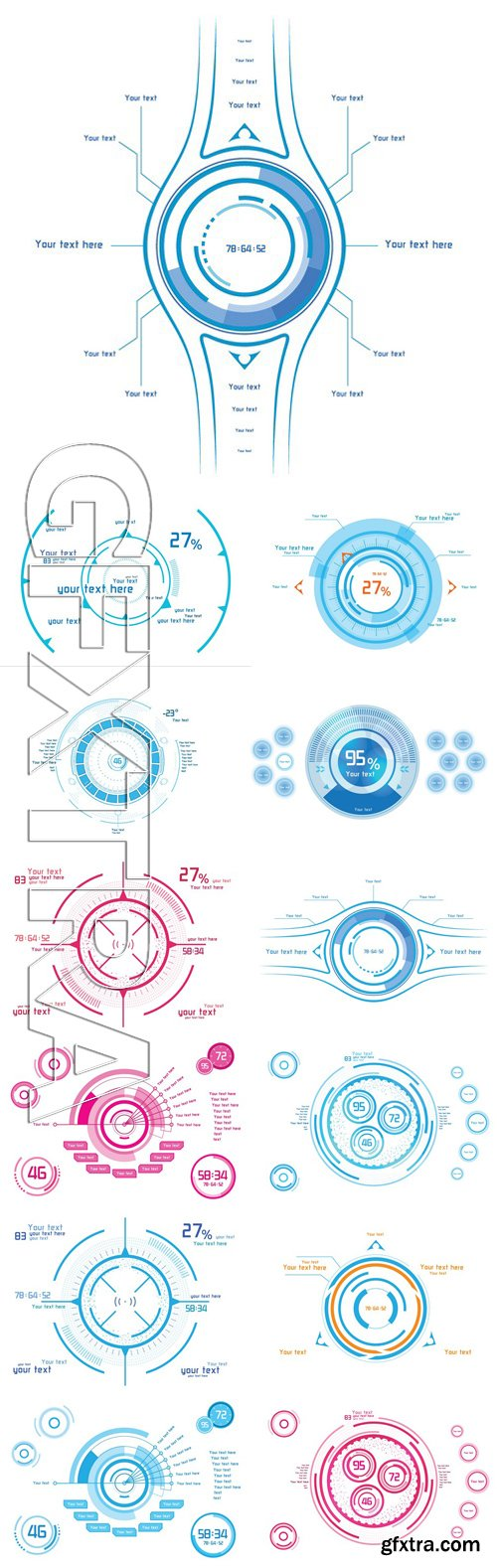 Stock Vectors - Abstract Technological futuristic backgrounds 10