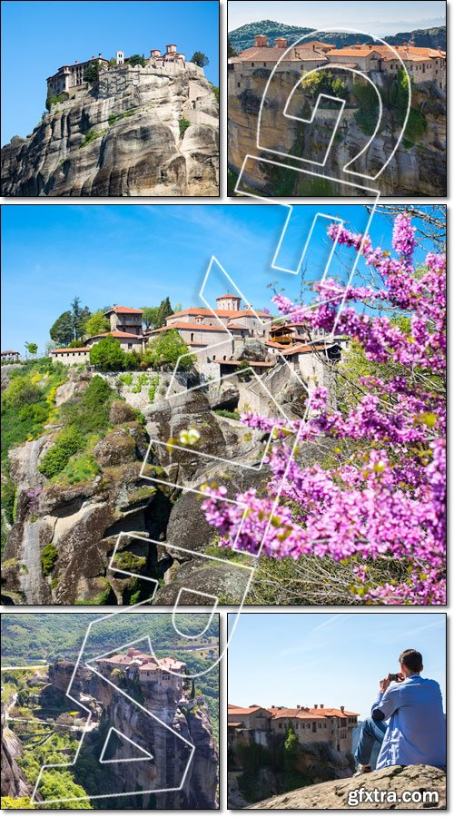 The Holy Monastery of Varlaam, Meteora, Greece - Stock photo