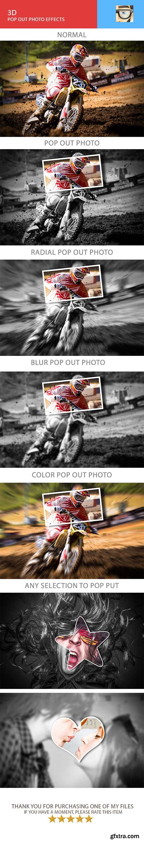 Graphicriver 3D Pop Out Photo Effects 11170639