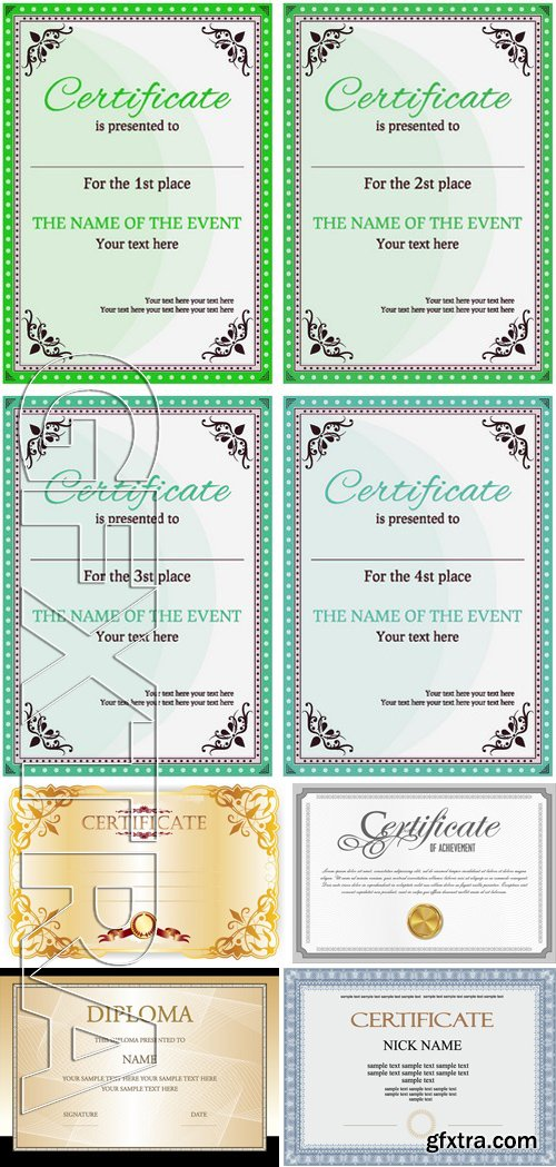 Stock Vectors - Certificate Template 20