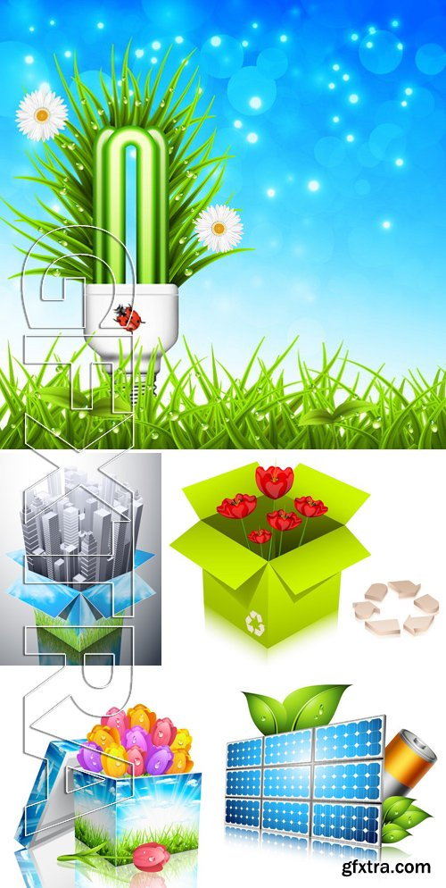 Stock Vectors - Ecology template 9