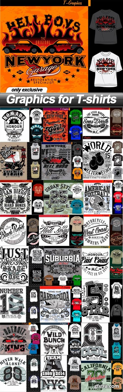 Graphics for T-shirts - 25 EPS