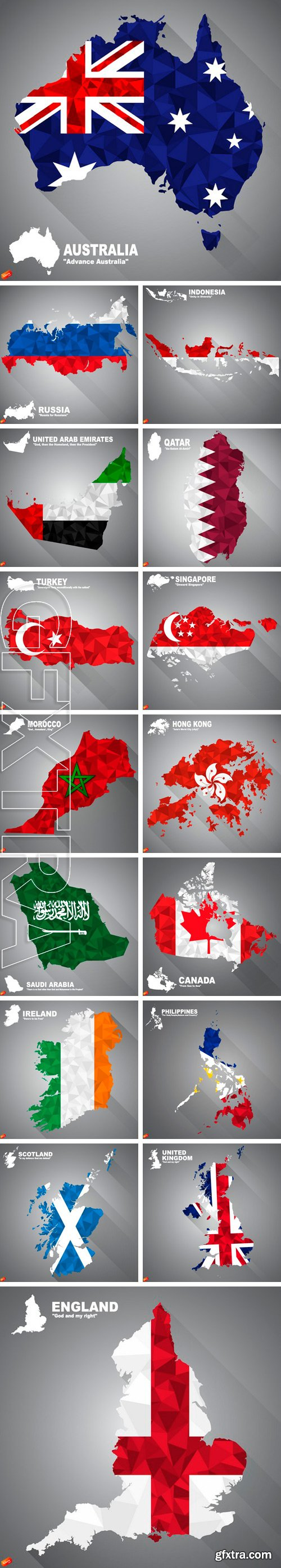 Stock Vectors - Flag overlay on map