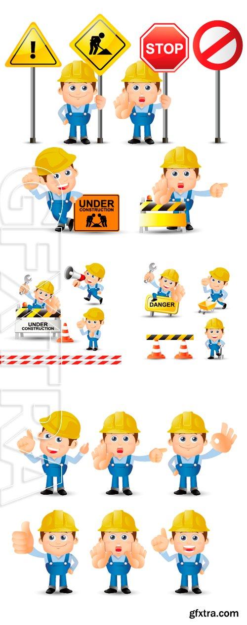 Stock Vectors - People Set - Profession - Set of builder