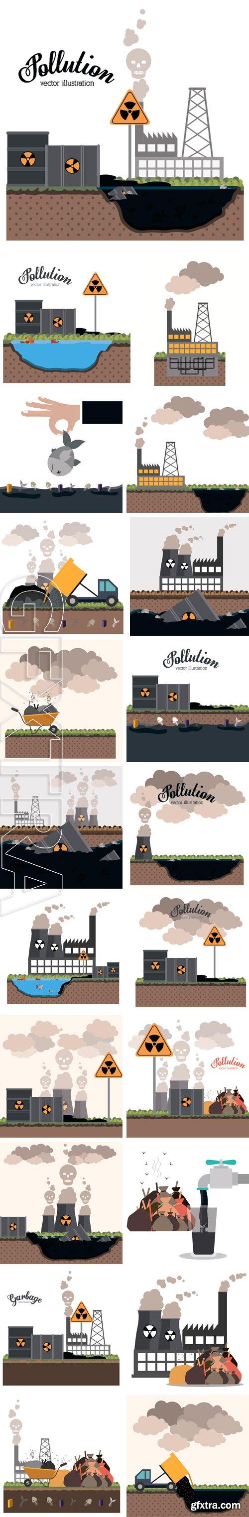 Stock Vectors - Pollution design background, vector illustration