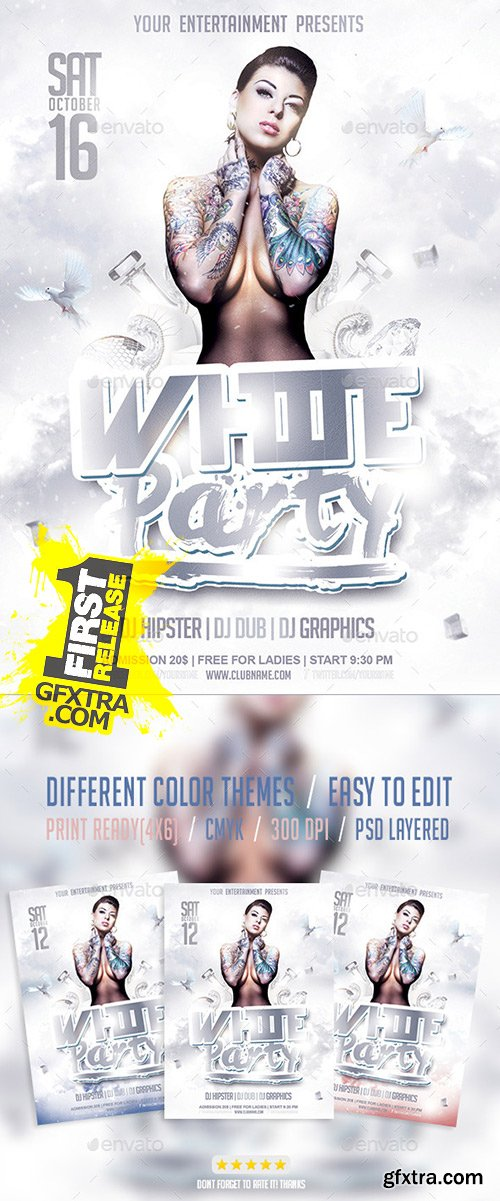 GraphicRiver - White Party Flyer PSD Template 9554128