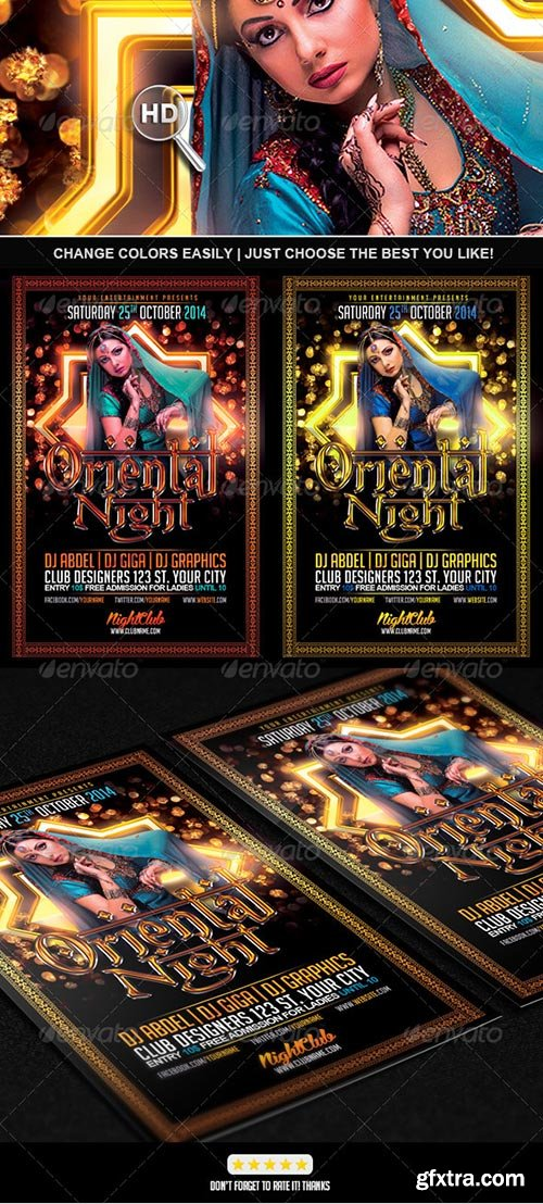GraphicRiver - Oriental Night Flyer PSD Template 7143273