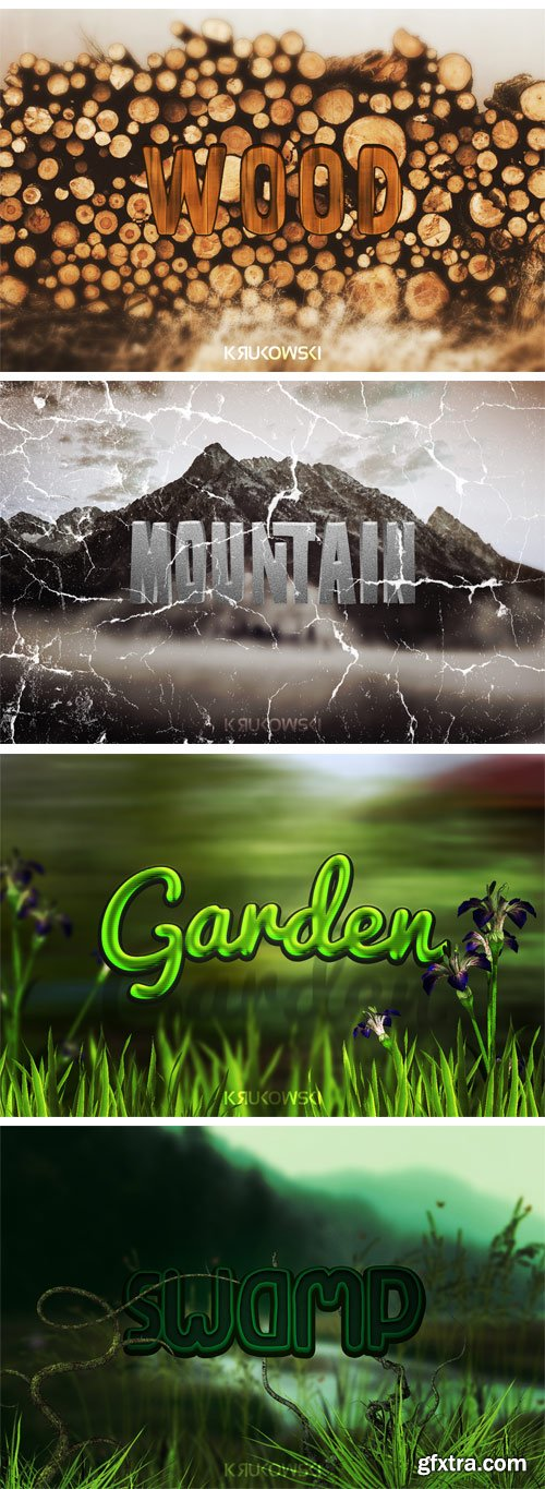 Nature Text Effects (CM 270451)