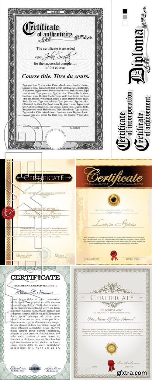Stock Vectors - Certificate Template 21