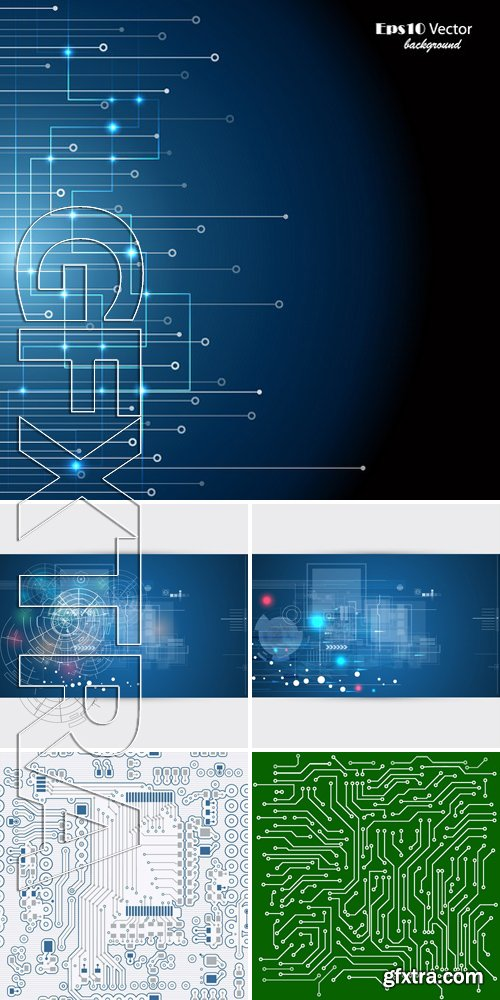 Stock Vectors - Technology Background 12