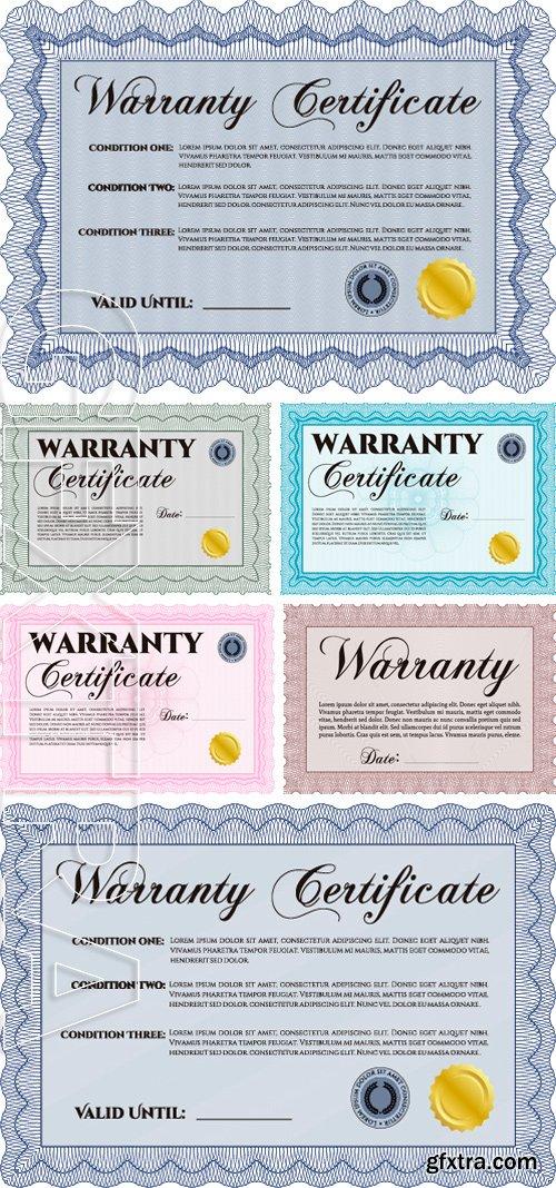 Stock Vectors - Template Warranty. Complex design. It includes background