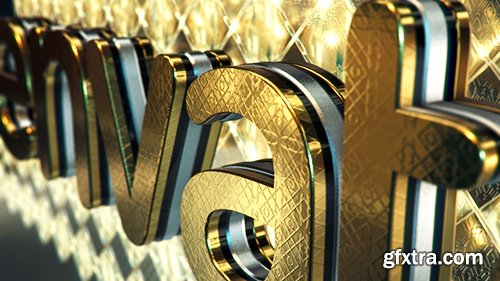 VideoHive Gold & Black Crystallized Glass Logo Reveal 11316786