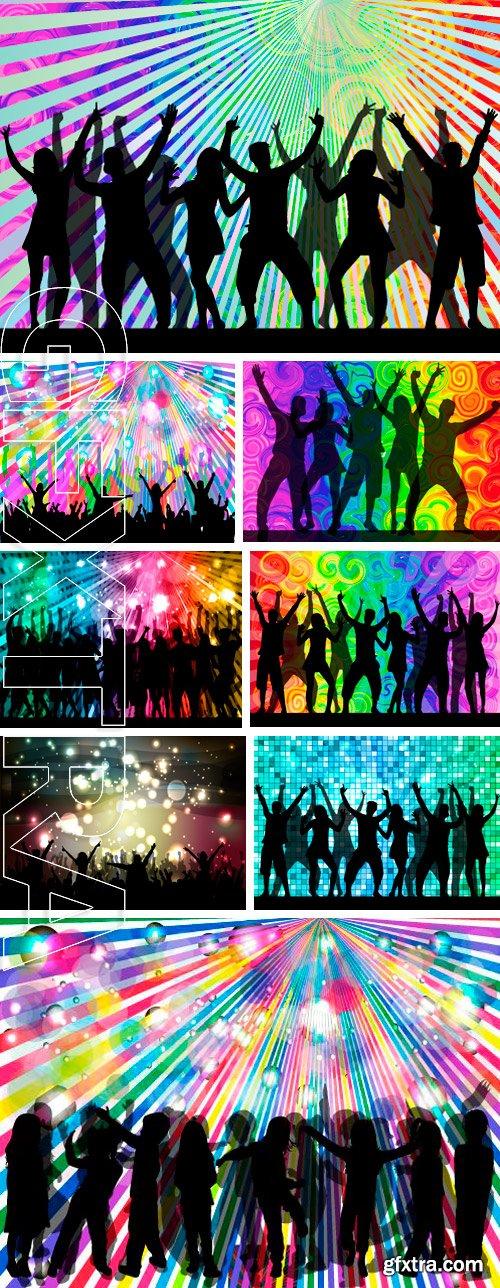 Stock Vectors - Dancing people silhouettes