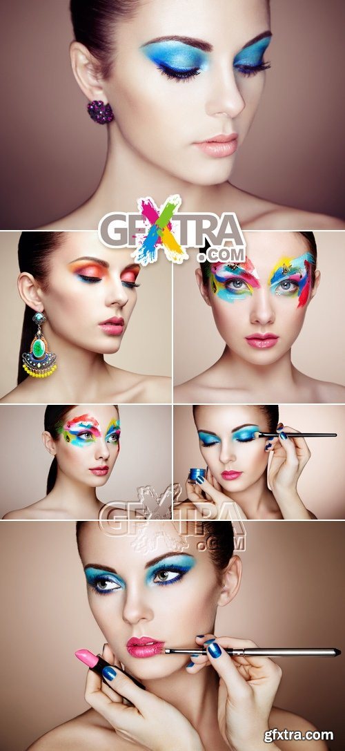 Stock Photo - Woman with Makeup