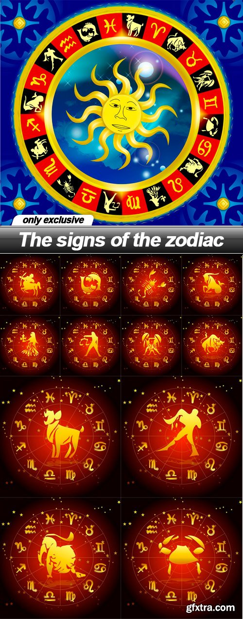 The signs of the zodiac - 13 UHQ JPEG