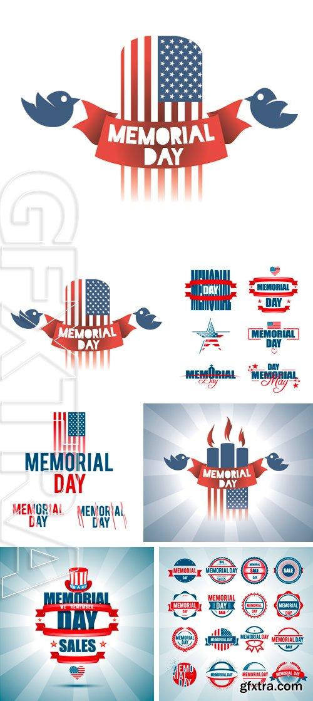 Stock Vectors - Vector illustration on Memorial Day