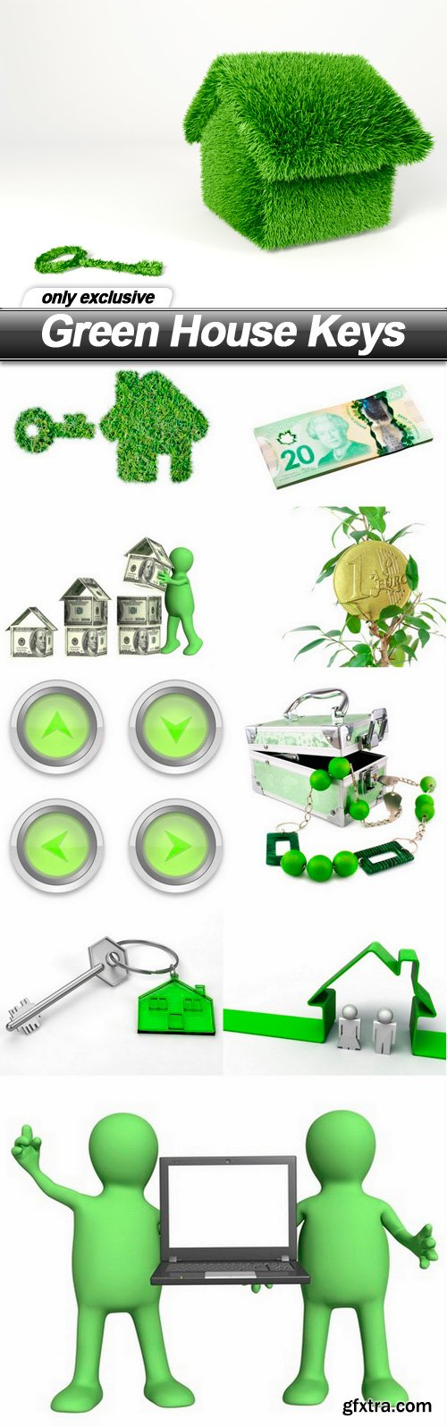 Green House Keys - 10 UHQ JPEG