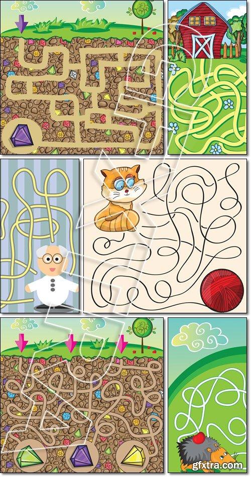 Vector Maze Game for children - Vector