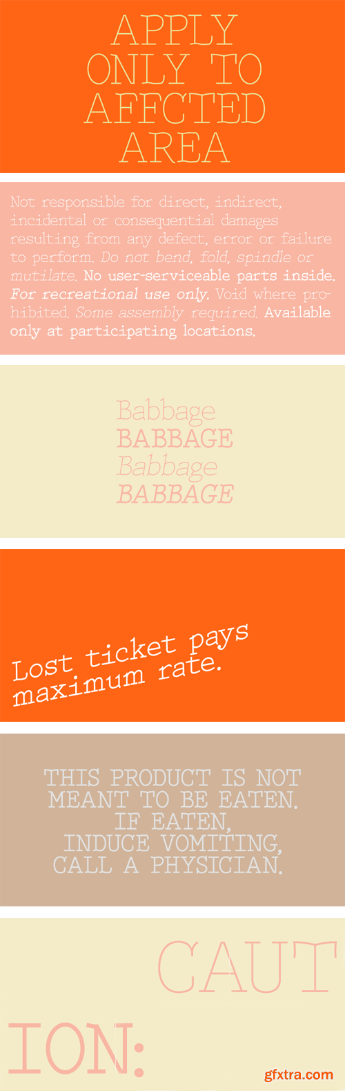 Babbage Font Family