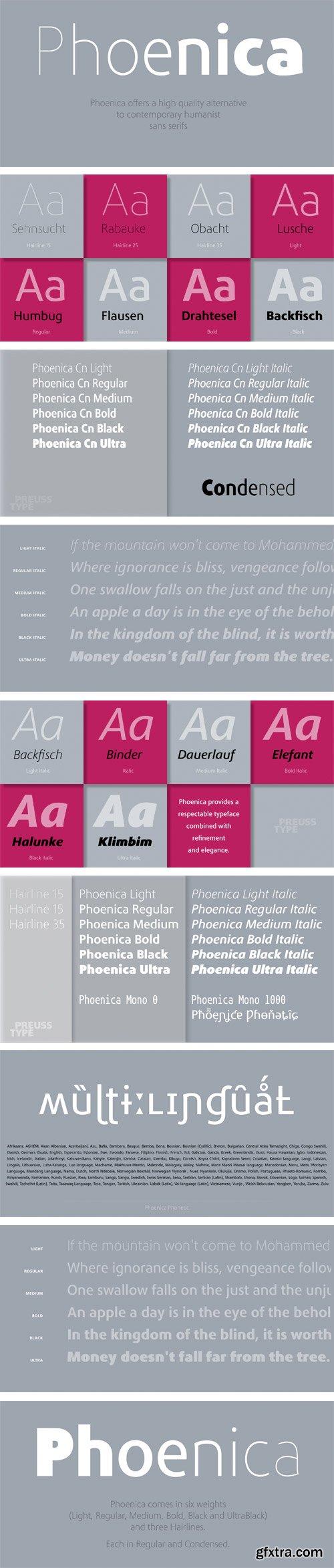 Phoenica Std Font Family