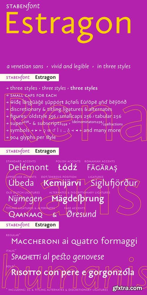Estragon Pro Font Family $120