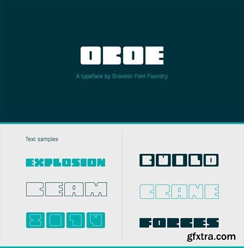 Oboe - Geometric Rounded Sign Typeface 6xOTF