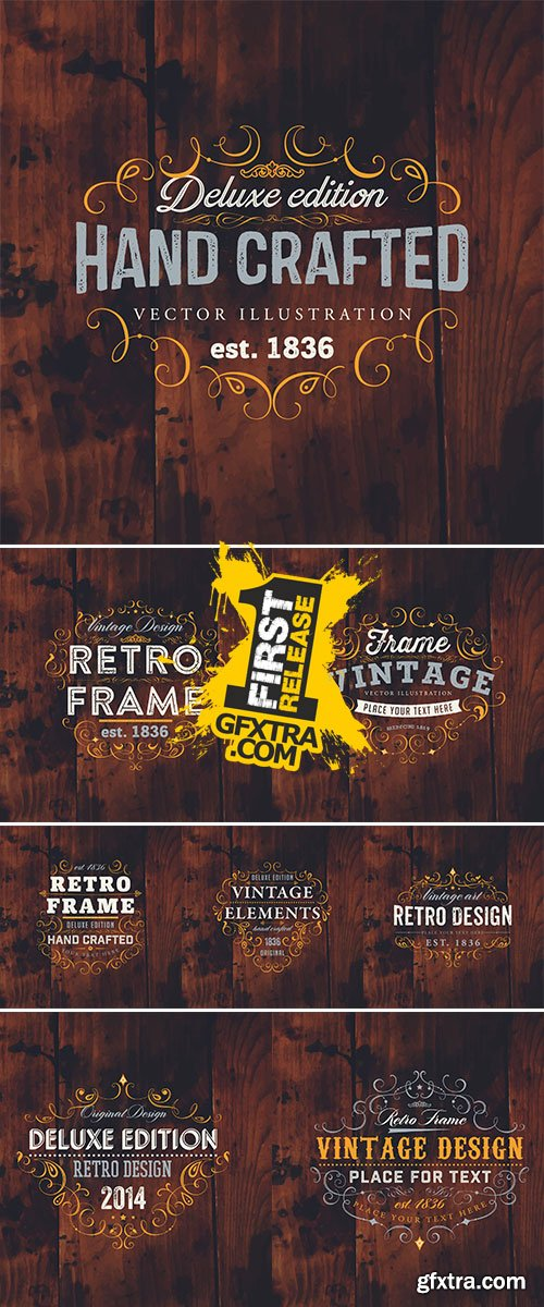 Vector Stock Vintage Frame for Luxury Logos