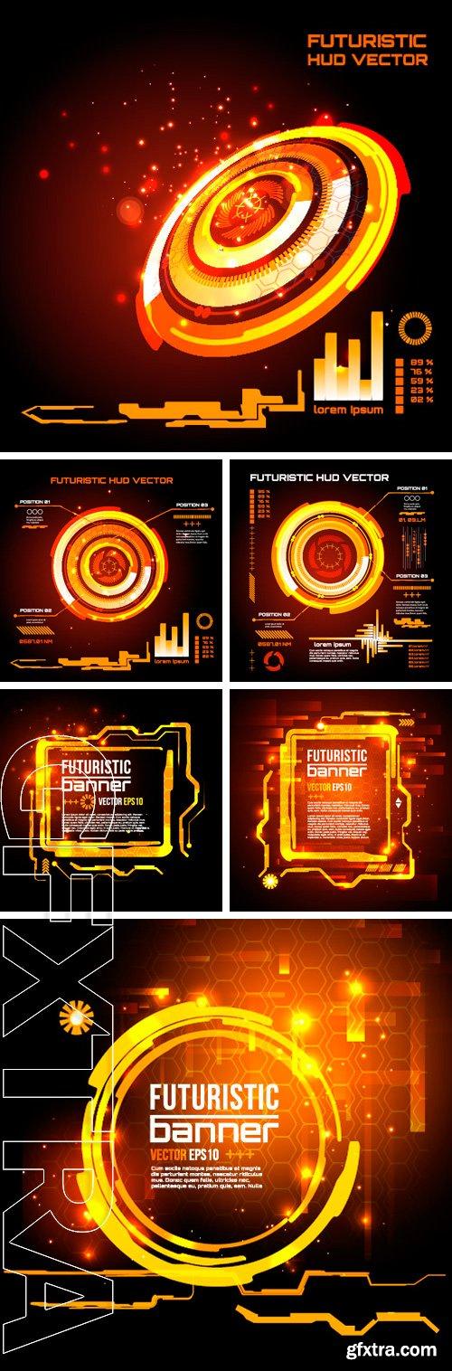 Stock Vectors - Futuristic interface,  vector background