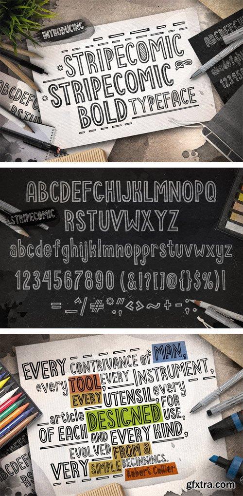 Stripecomic Typeface