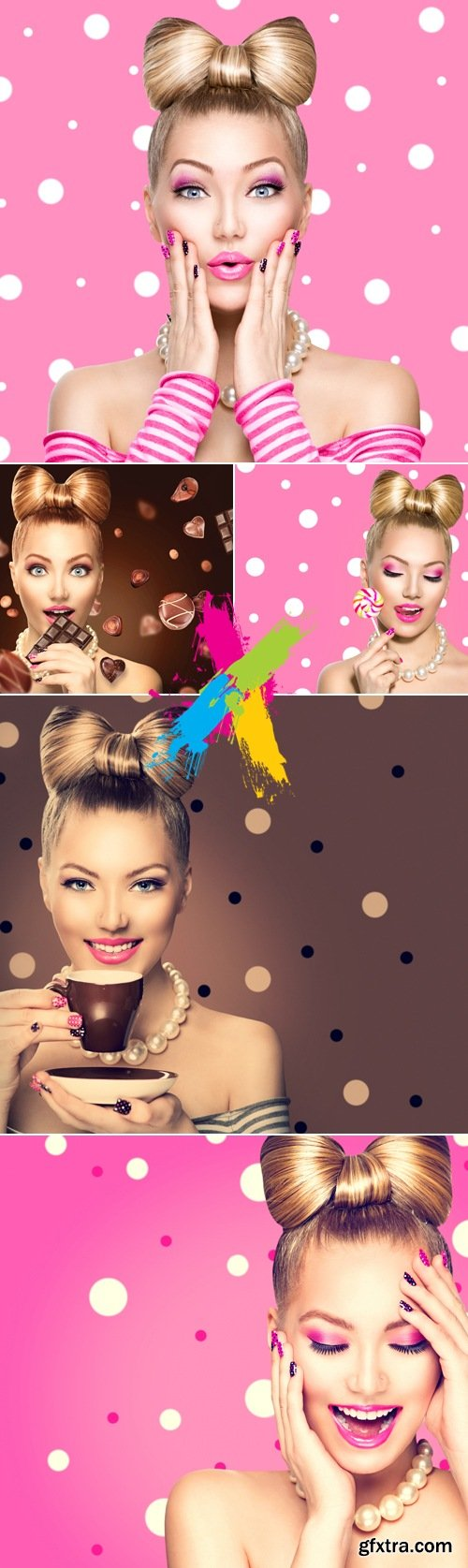 Stock Photo - Blonde Woman with Candies