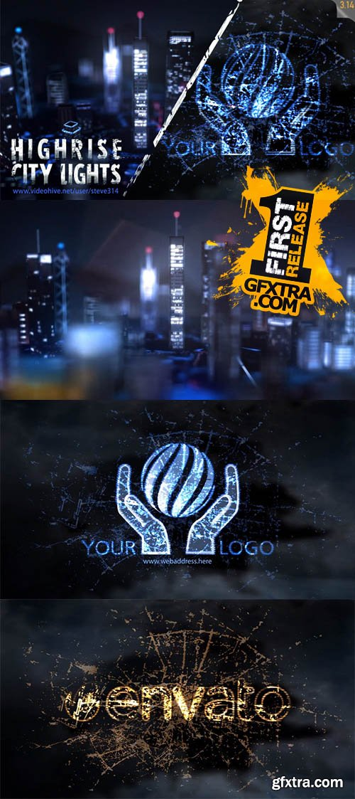 Highrise City Lights - Logo Intro - Videohive 11251037