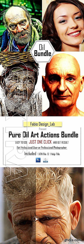 GraphicRiver - Pure Oil Art Actions Bundle 11579295