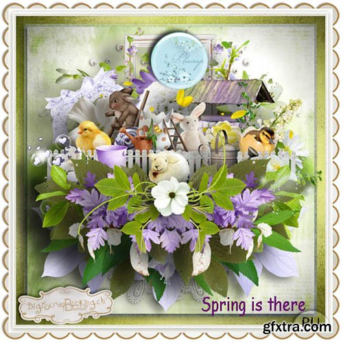 Scrap - Spring is there JPG and PNG
