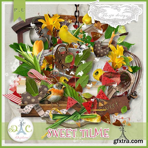 Scrap - Sweet time JPG and PNG