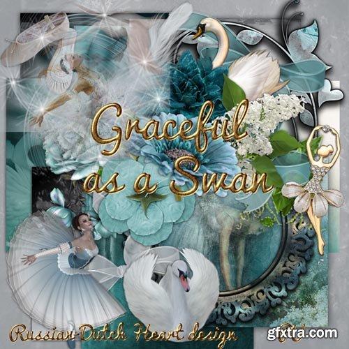 Scrap - Graceful as a Swan JPG and PNG