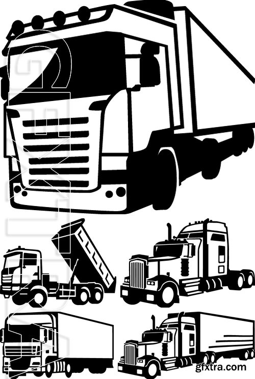 Stock Vectors - Truck Transportation