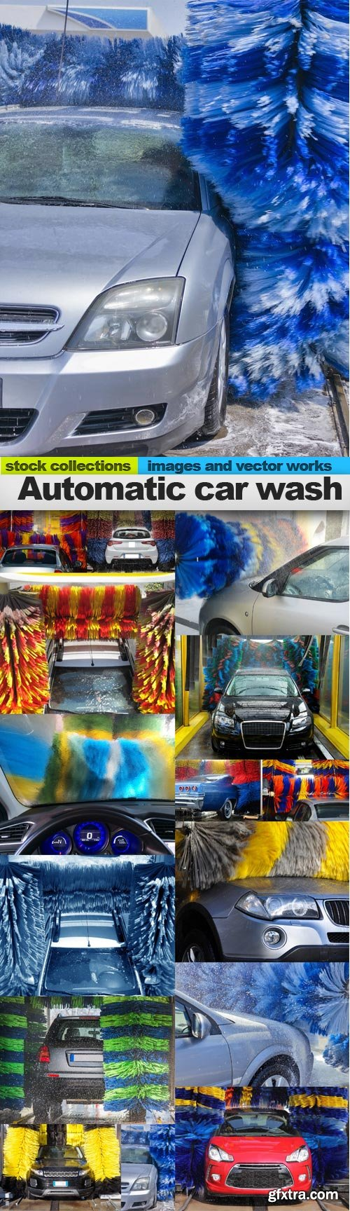 Automatic car wash, 15 x UHQ JPEG