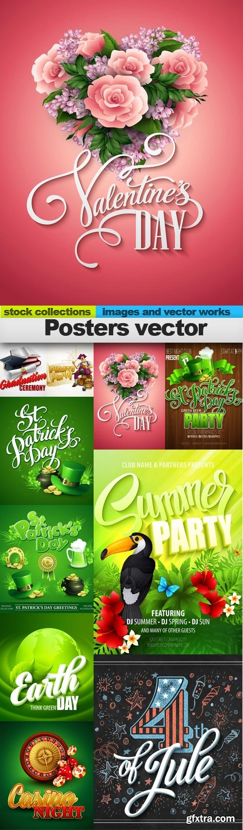 Posters vector, 10 x EPS