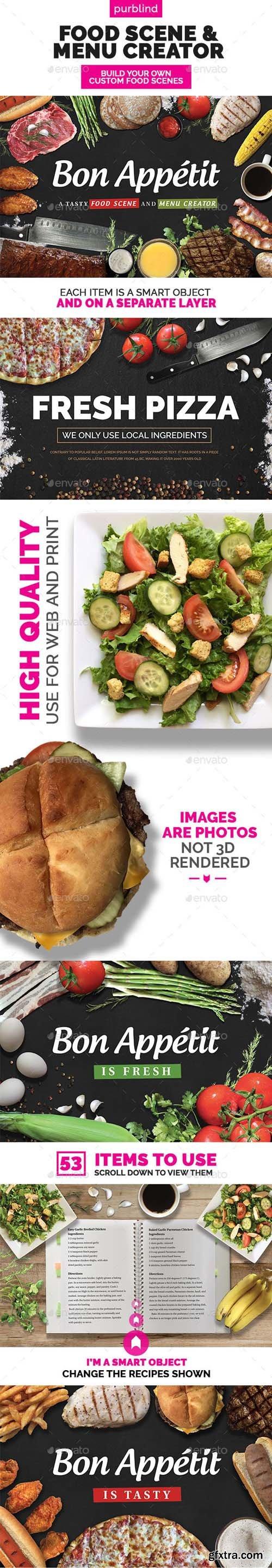 GraphicRiver - Food Scene Menu Creator (Bon Appetit) 11585332