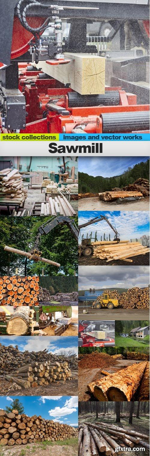 Sawmill, 15 x UHQ JPEG