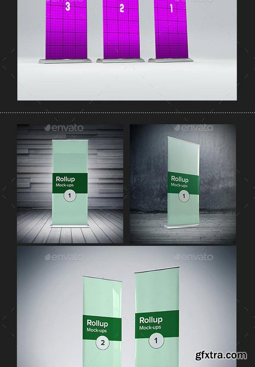 GraphicRiver - Pop-Ups/Rollups Mock-up Bundle 9817443
