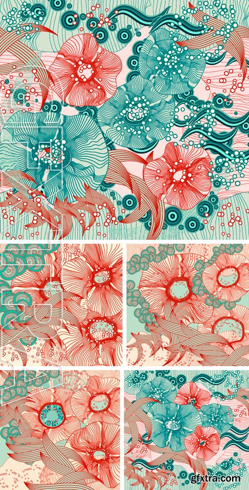 Stock Vectors - Abstract floral background. Vector abstract flowers.