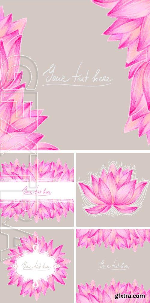 Stock Vectors - Beautiful flower greeting card design. Vector illustration
