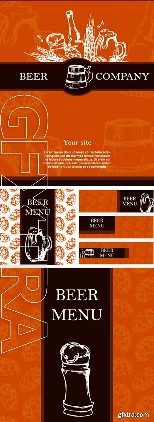 Stock Vectors - Beer menu. Retro card or flayer. Restaurant theme. Vector