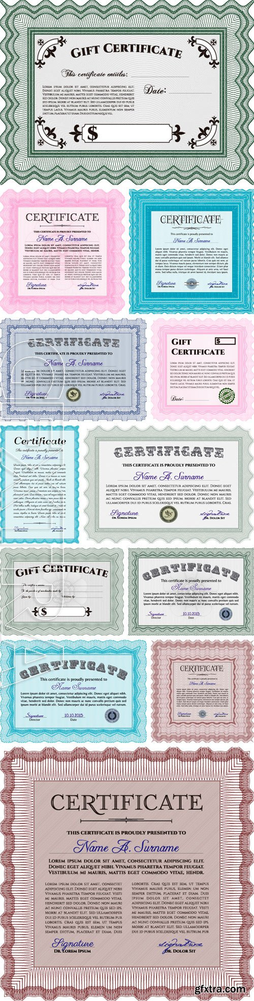 Stock Vectors - Certificate template. Border, frame.With quality background. Artistry design