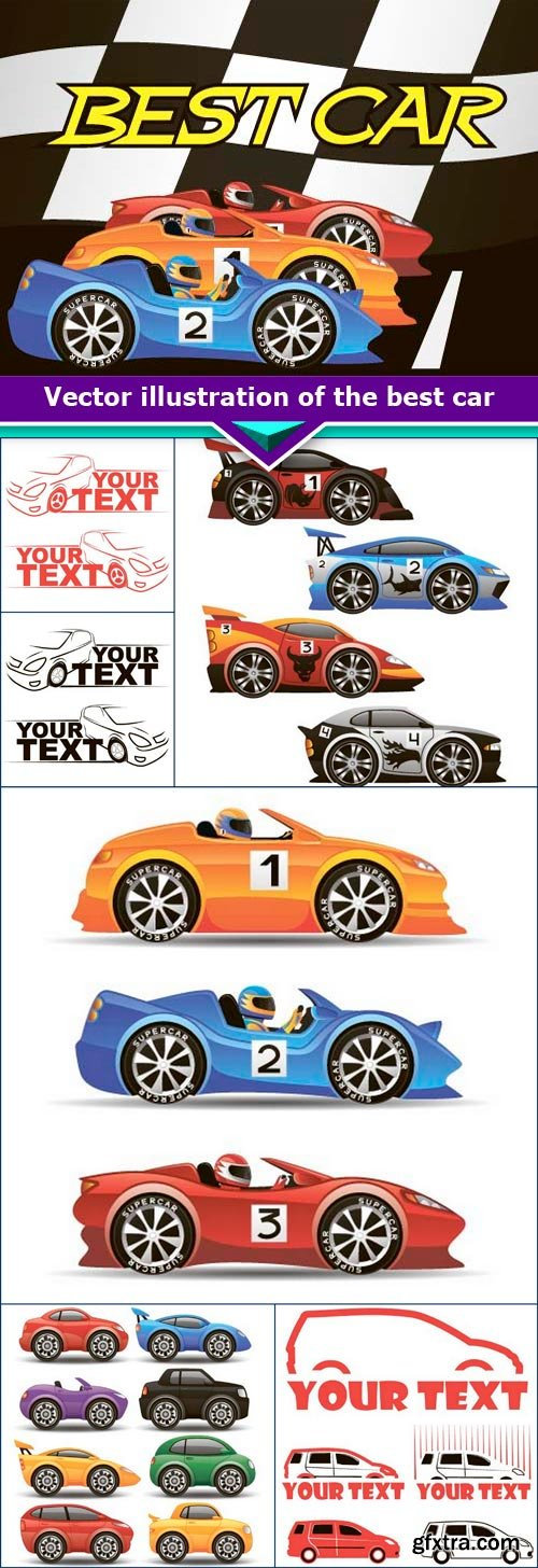 Vector illustration of the best car 7x EPS