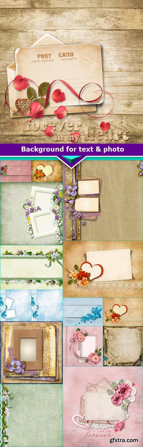 Background for text & photo Frames 16x JPEG