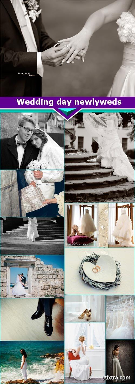 Wedding day newlyweds 14x JPEG